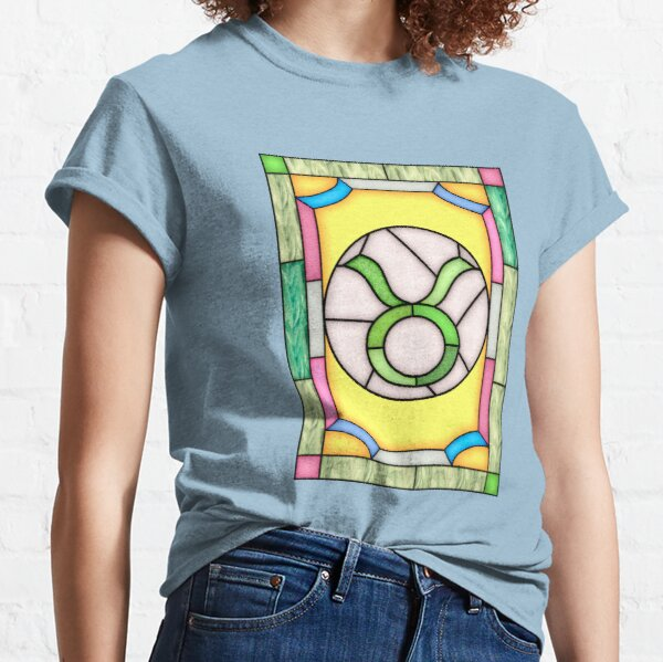 Taurus oblong stained glass window Classic T-Shirt