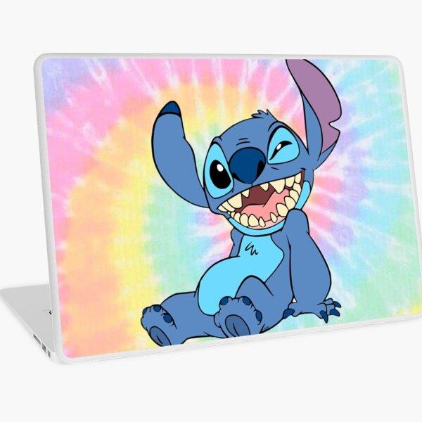Colorful Stitch sitting Laptop Skin