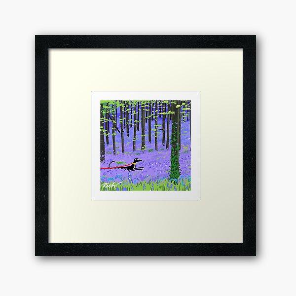 Bluebell Hound Framed Art Print