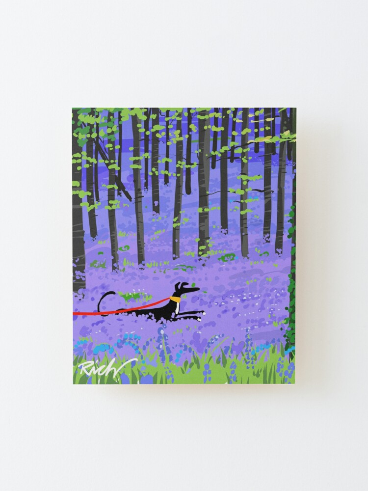 Alternate view of Bluebell Hound Mounted Print