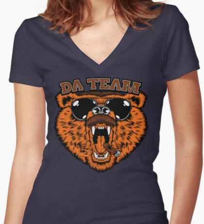 Da Team Women's Fitted V-Neck T-Shirt