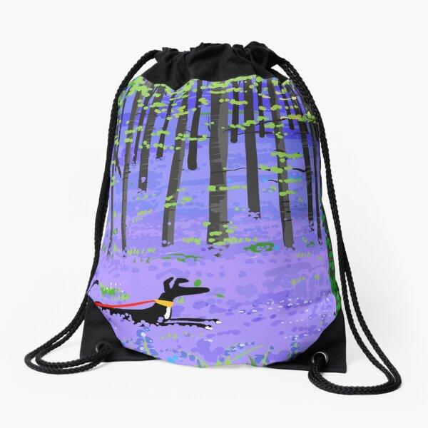 Bluebell Hound Drawstring Bag