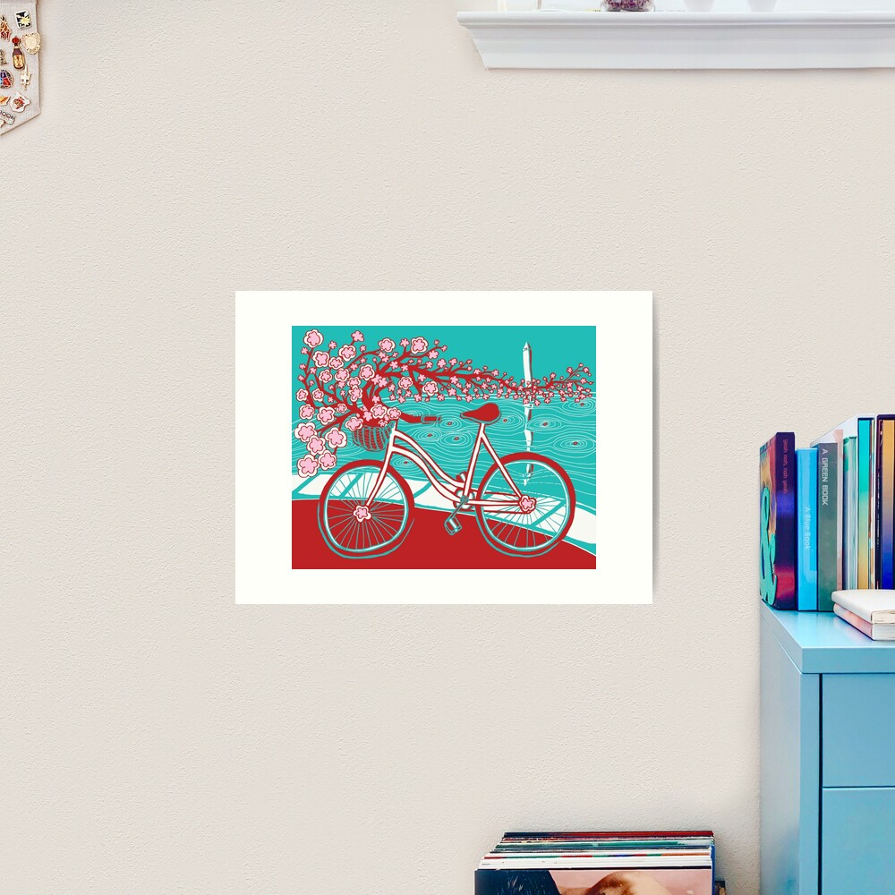 bicycle bloom Art Print