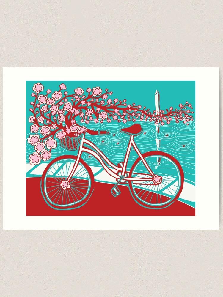 Alternate view of bicycle bloom Art Print