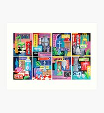 Beirut Nights Montage Art Print