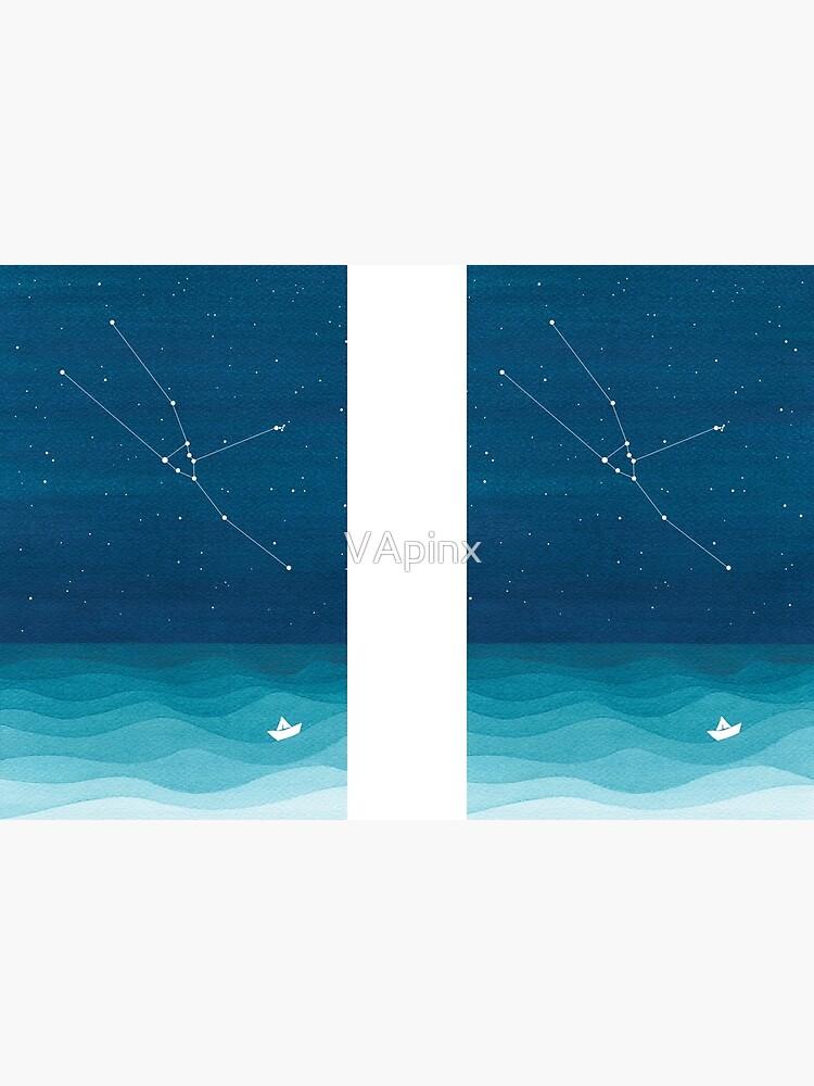 Taurus Constellation, paper boat by VApinx
