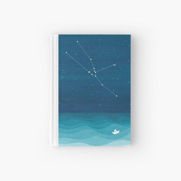 Taurus Constellation, paper boat Hardcover Journal