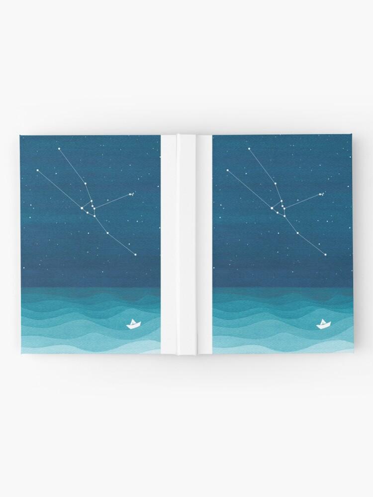 Alternate view of Taurus Constellation, paper boat Hardcover Journal