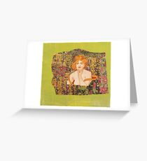 Eve In the Garden of Creation Greeting Card