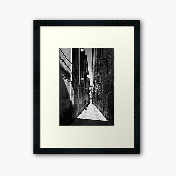 man in a red jumper Framed Art Print