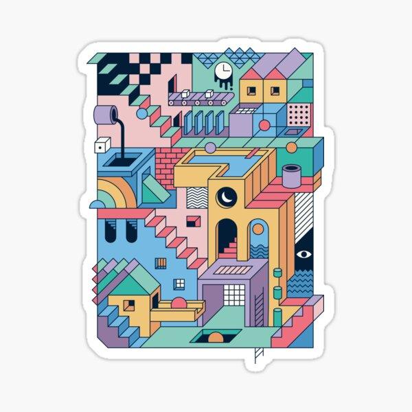 80's Escher Sticker
