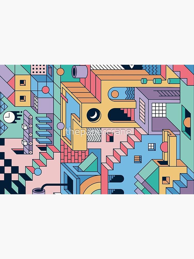 80's Escher by thepapercrane