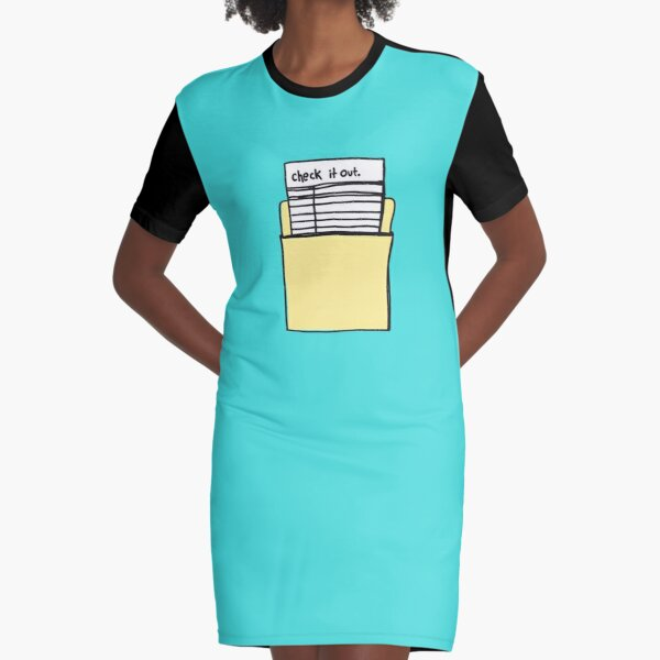 Check it Out Graphic T-Shirt Dress