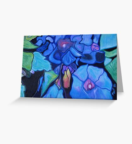 Good Morning Glories After All  Greeting Card