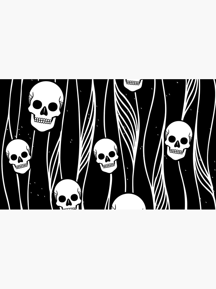 Skull Pattern • Black And White •  by rike-mayer