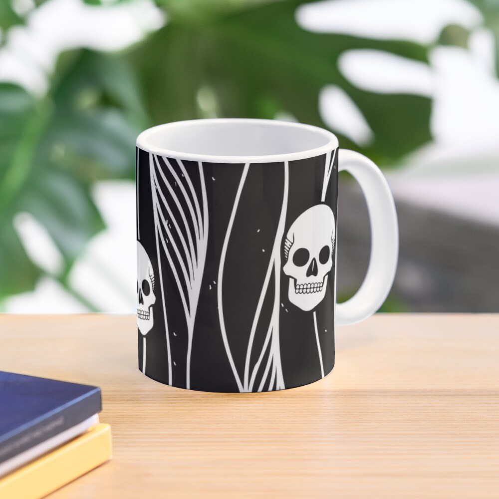 Skull Pattern • Black And White •  Mug