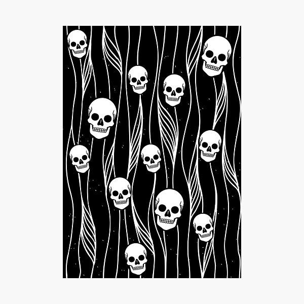 Skull Pattern • Black And White •  Photographic Print