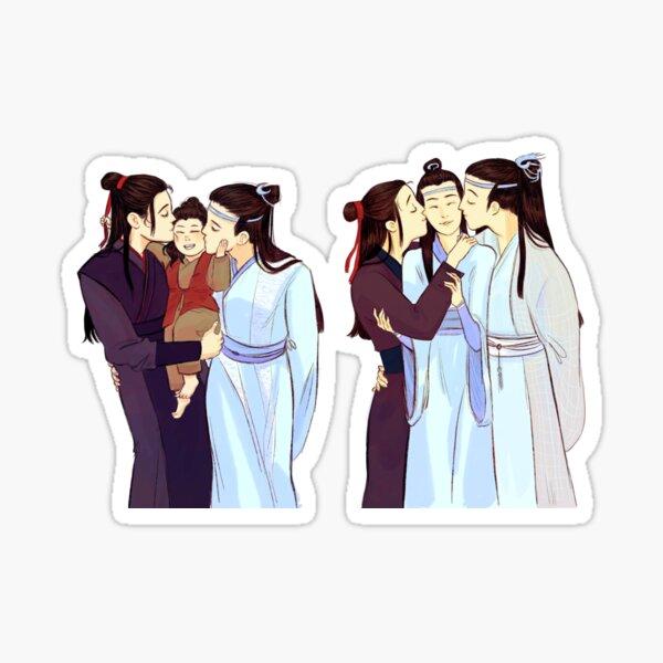 Wangxian Family Kisses! Sticker