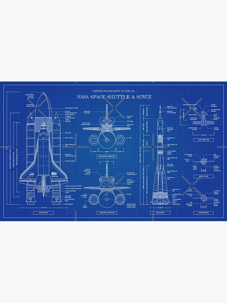 NASA Space Shuttle vs Soyuz  (Blueprint - English) by BGALAXY