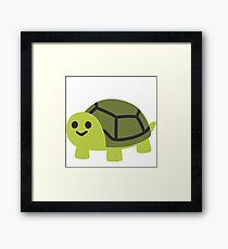 EMOJI TURTLE Framed Print