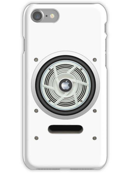 SPEAKER IPHONE CASE 4 (White eddition) by ALIANATOR