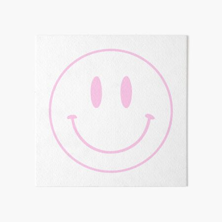 Pink | Happy Face | Smiley |  Art Board Print