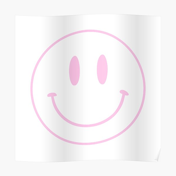 Pink | Happy Face | Smiley |  Poster