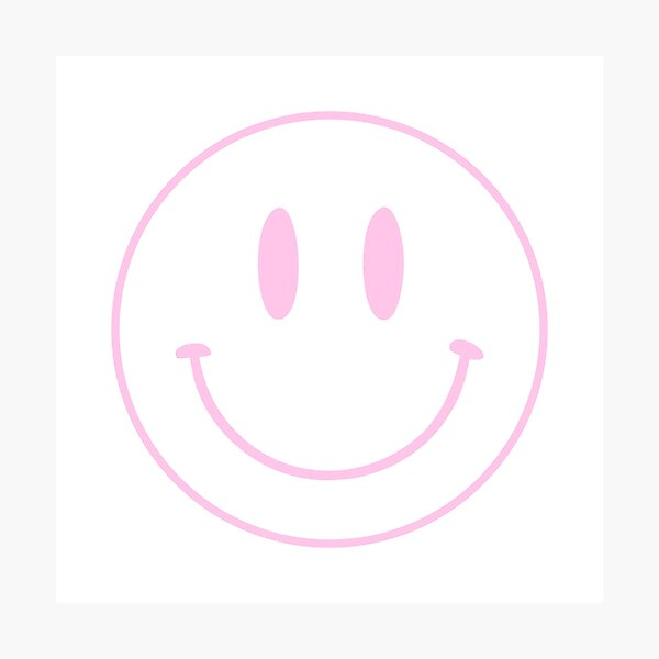 Pink | Happy Face | Smiley |  Photographic Print