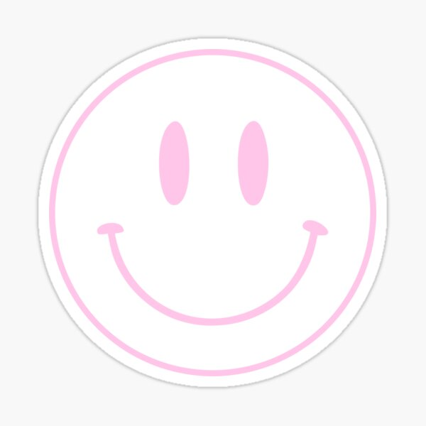 Pink | Happy Face | Smiley |  Sticker