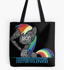 Brony Typography POSTER Tote Bag