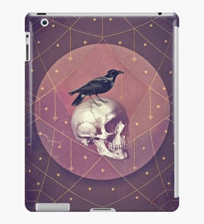 Crow and Skull Collage iPad Case/Skin