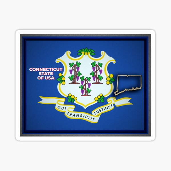 Connecticut State of The USA Sticker