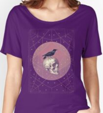 Crow and Skull Collage Women's Relaxed Fit T-Shirt
