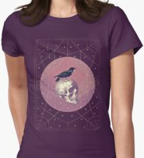 Crow and Skull Collage Women's Fitted T-Shirt
