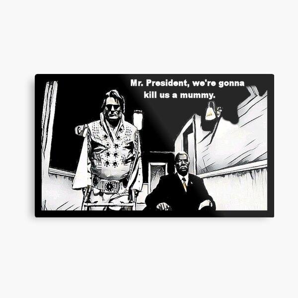Elvis and JFK Metal Print