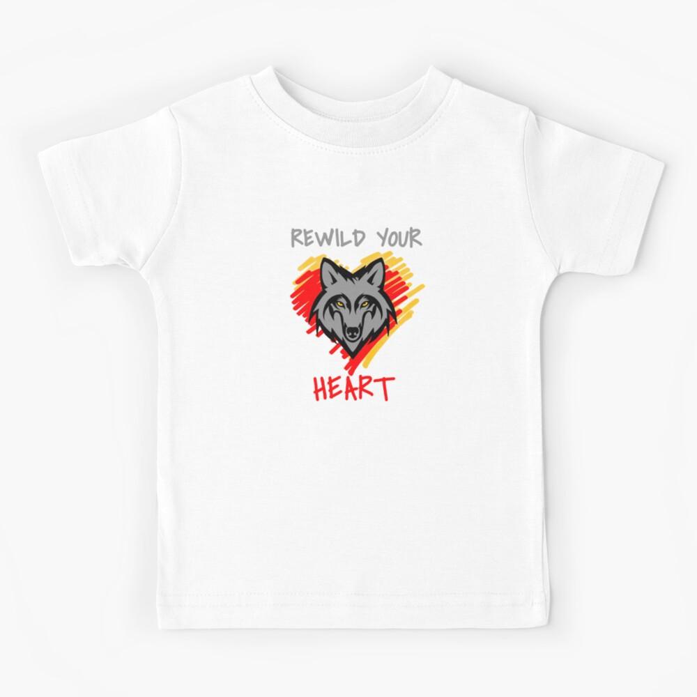 Rewild Your Heart  Kids T-Shirt