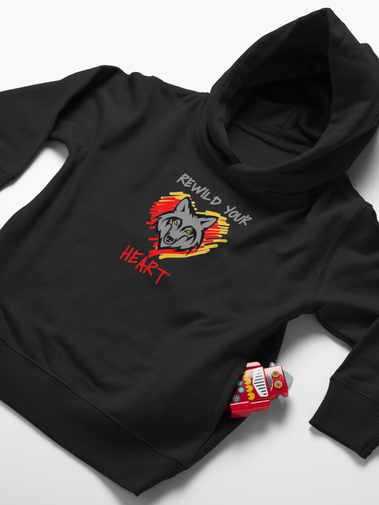 Alternate view of Rewild Your Heart  Toddler Pullover Hoodie