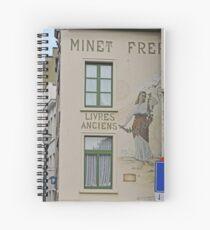 Cuaderno de espiral Mural, librería, Bruselas, Bélgica