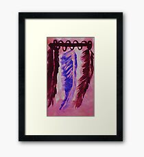 Feather display, Southwestern theme, watercolor Framed Print