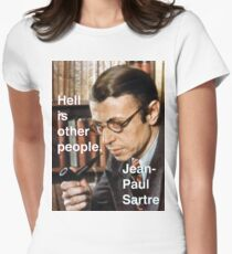 Hell is Other People - Sartre Womens Fitted T-Shirt