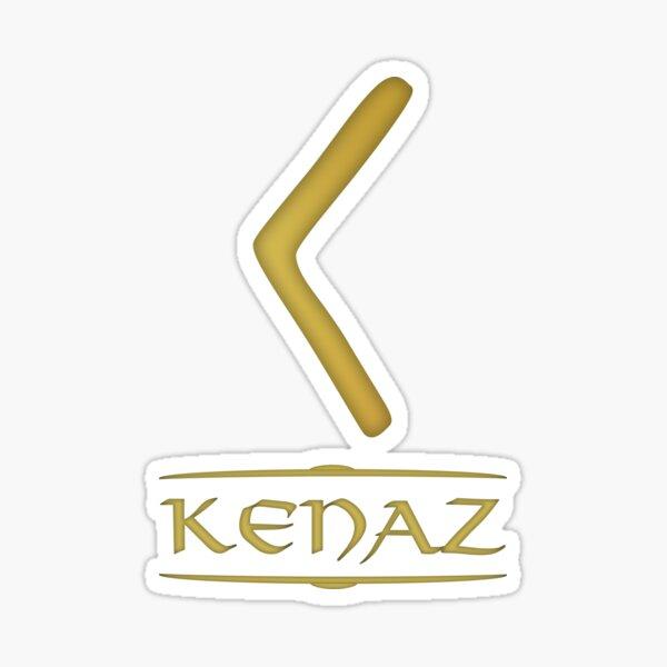 Kenaz - Rune / Älteres Futhark / Serie aus 24 Runen Sticker
