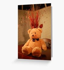 "Faith, The Cancer Research Bear....""Celebration"" Greeting Card"