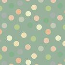 Pistachio polka dots by Morag Anderson
