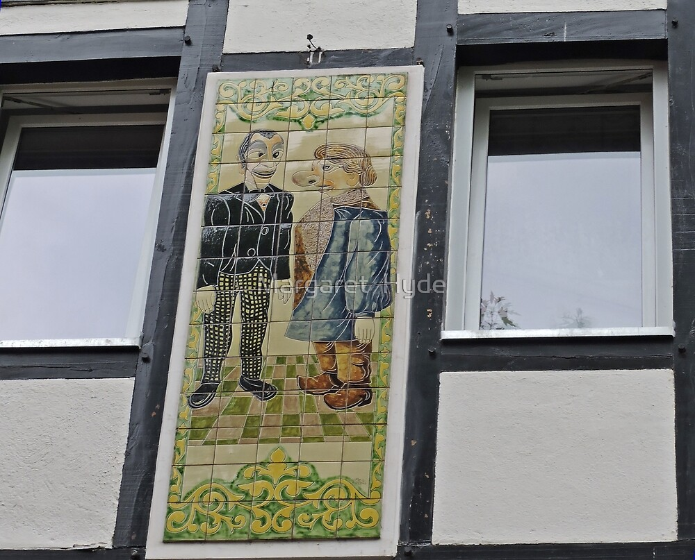 Windows and Mural, Cologne, Germany by Margaret  Hyde