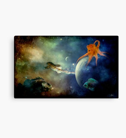I Wonder If Fish Dream Canvas Print