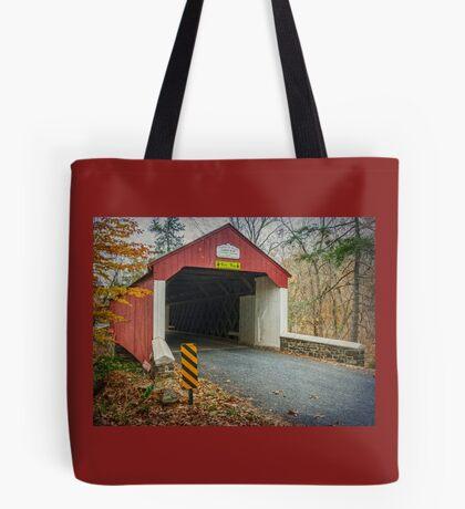 Cabin Run Covered Bridge Tote Bag