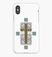 Abstract Cross Wht iPhone Case/Skin