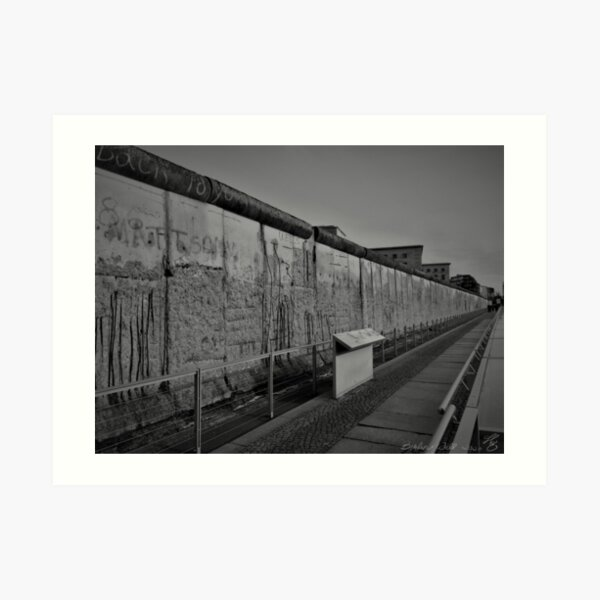 Section of the Berlin Wall - Topography of Horrors, Berlin Art Print