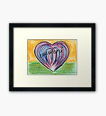 Signed heart Framed Print