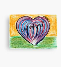 Signed heart Canvas Print